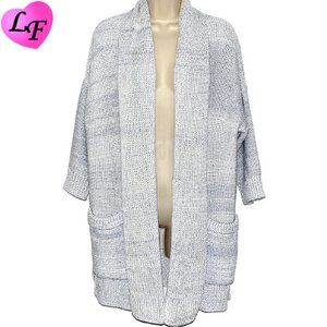 WRAP LONDON Long Open Front Cardigan with Pockets